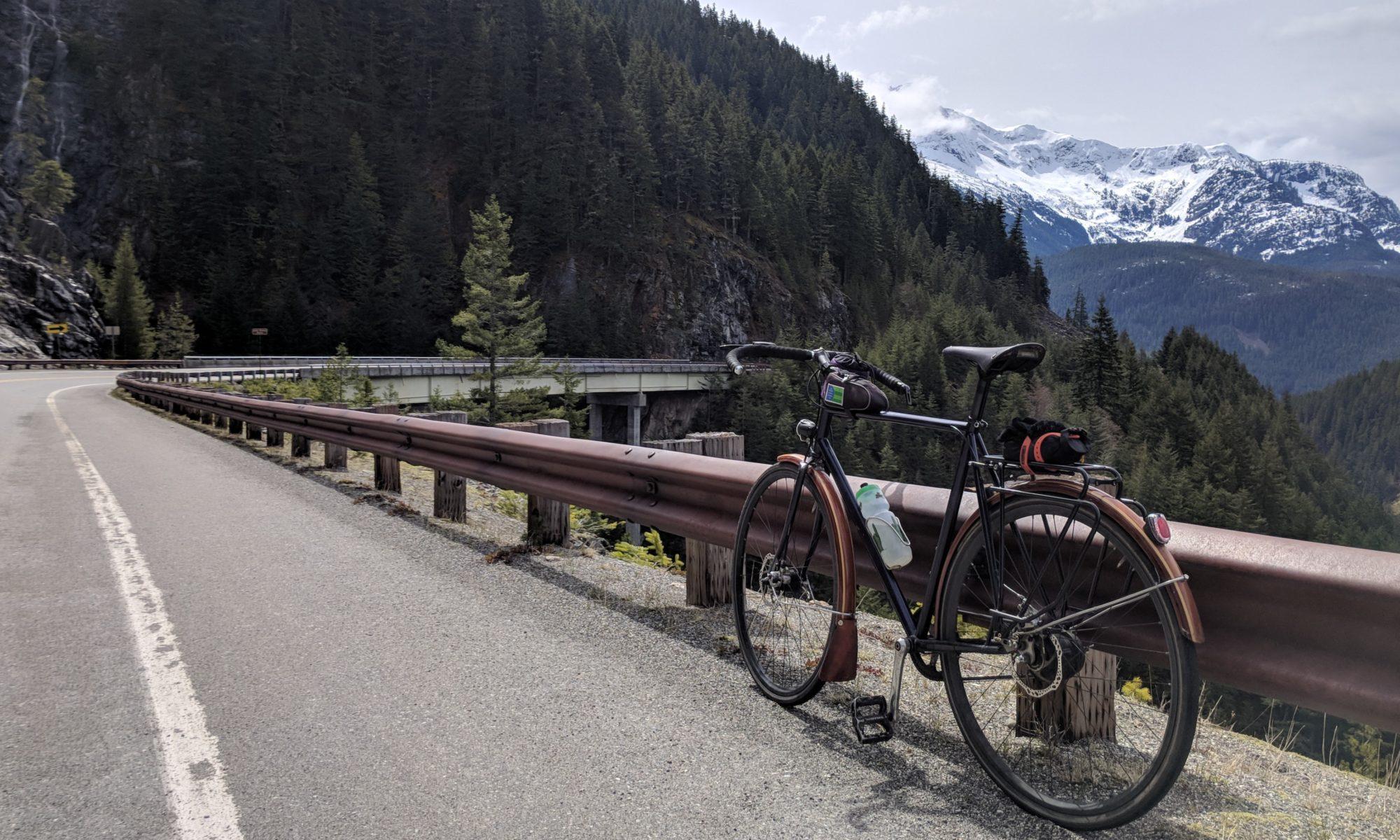 Bike on Highway 20