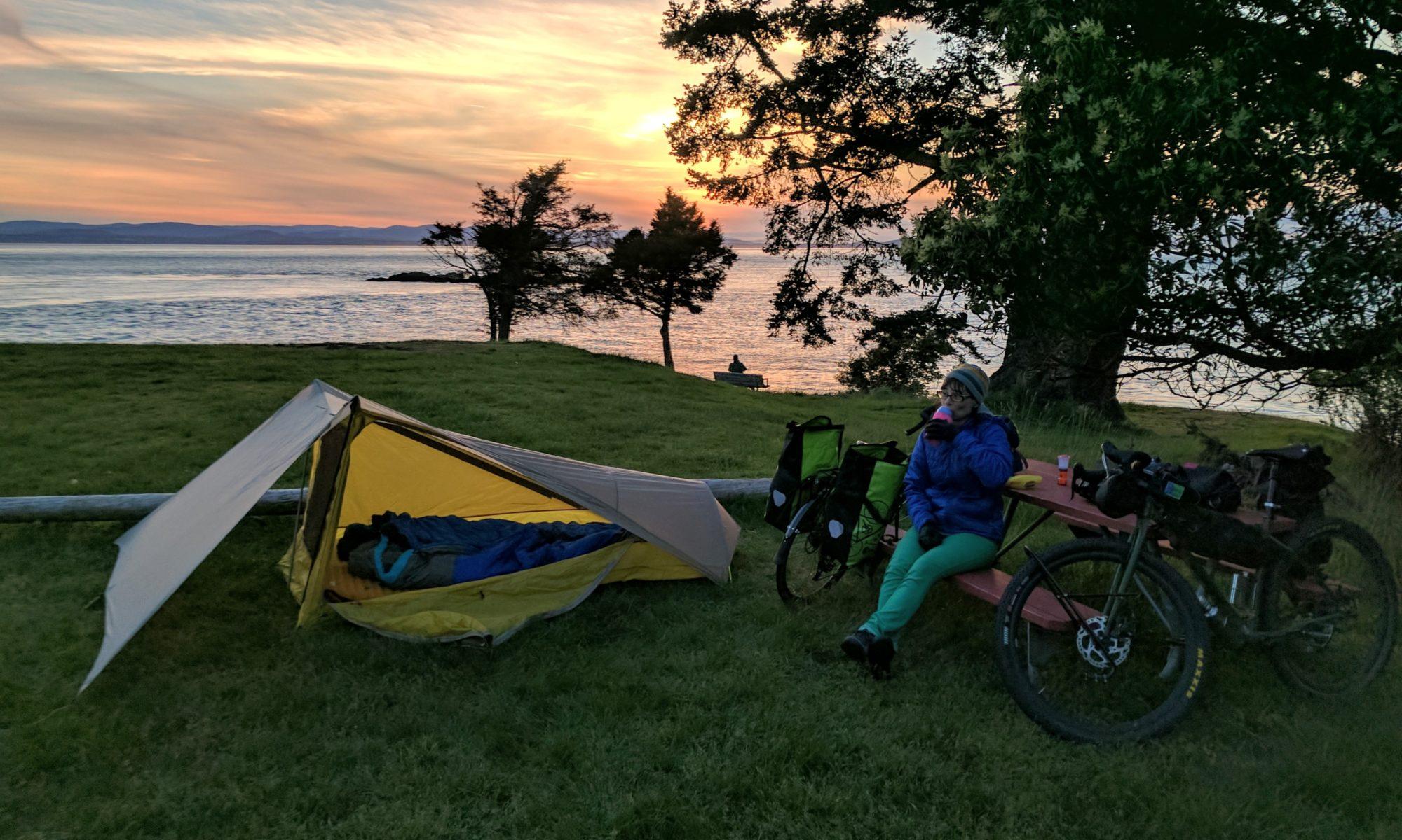 Bike Camping on San Juan Island
